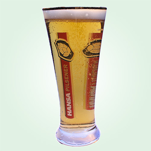 beer merchandise hansa pilsener beer glasses